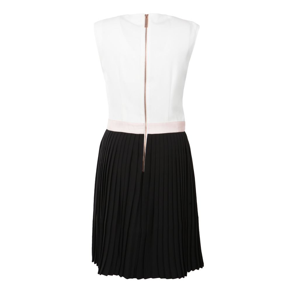Glina Pleated Contrast Dress main image