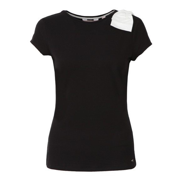 Ted Baker Womens Black Tuline Bow Shoulder Tee main image