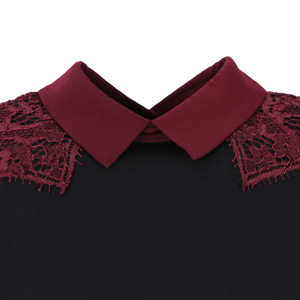 Quintaa Contrast Lace Trim Top main image