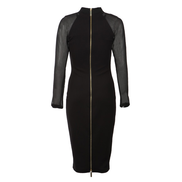 Ted Baker Womens Black Wrenti Fitted Long Sleeve Rib Dress main image