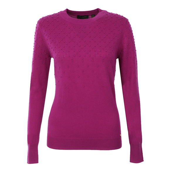 Ted Baker Womens Purple Sabria Bobble Crew Neck Jumper main image