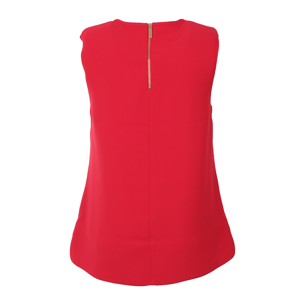 Natalle Crepe Sleeveless Bow Top main image