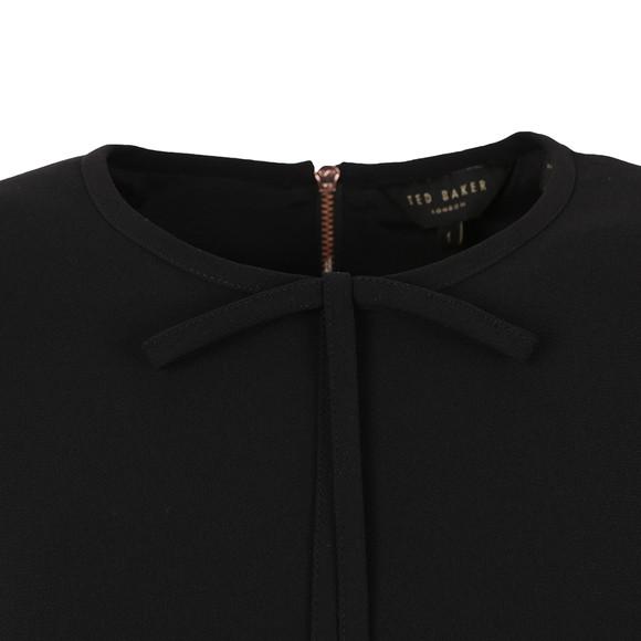 Ted Baker Womens Black Natalle Crepe Sleeveless Bow Top main image