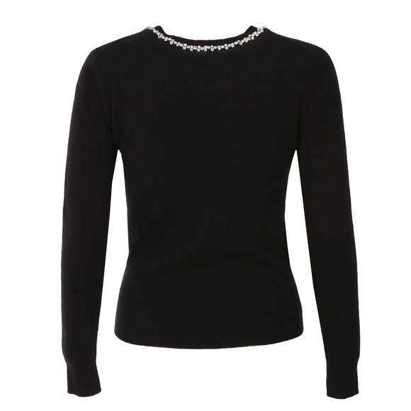 Ted Baker Womens Black Ariya Embellished Long Sleeve Jumper main image