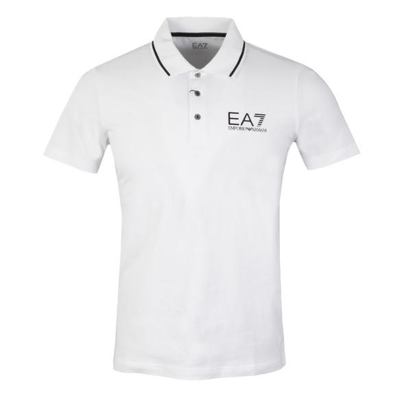 EA7 Emporio Armani Mens White Tipped Polo Shirt main image