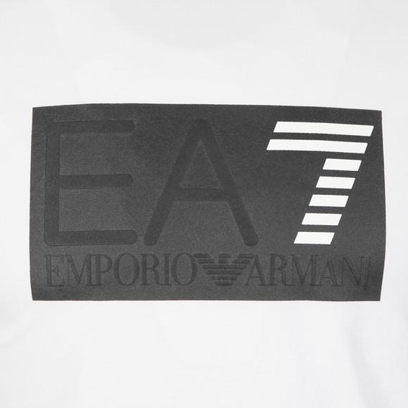 EA7 Emporio Armani Mens White Embossed Logo T Shirt main image