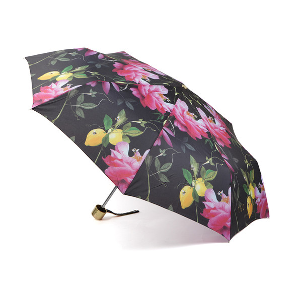 Ted Baker Womens Black Issela Citrus Bloom Umbrella main image