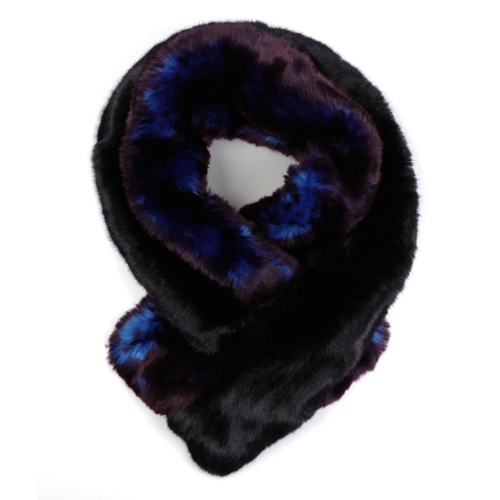 Double Stripe Faux Fur Scarf main image