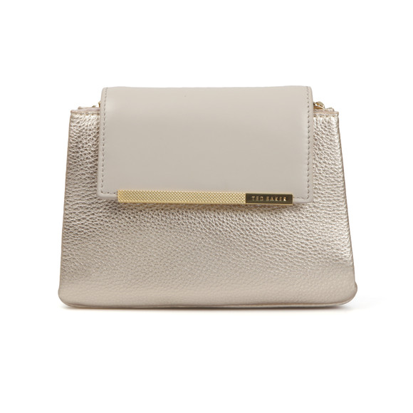 Ted Baker Womens Grey Fae Folded Edge Mini Crossbody Bag main image