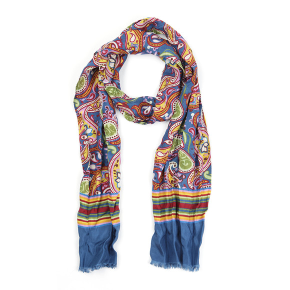 Pretty Green Mens Multicoloured Vintage Paisley Scarf main image
