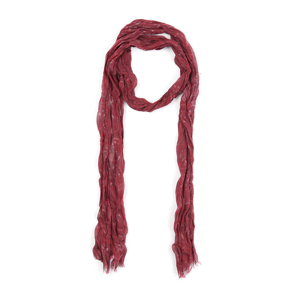 Pretty Green Mens Red Paisley Tonal Scarf main image