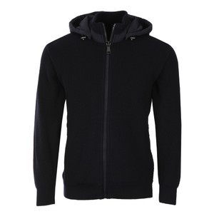 Full Zip Knitted Hooded Jacket