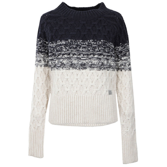 Superdry Womens Blue Ombre Honeycombe Knit main image