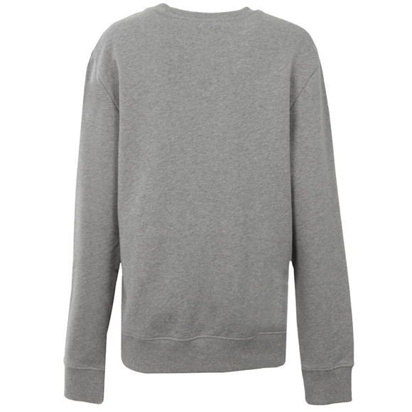 Calvin Klein Womens Grey Logo Crew Neck Sweatshirt main image