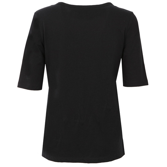 Calvin Klein Womens Black Crew Neck Straight Fit T Shirt main image