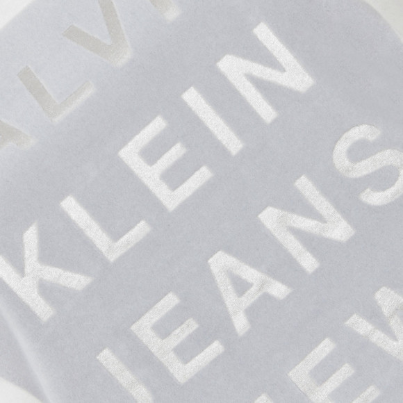 Calvin Klein Womens White Crew Neck Straight Fit T Shirt main image