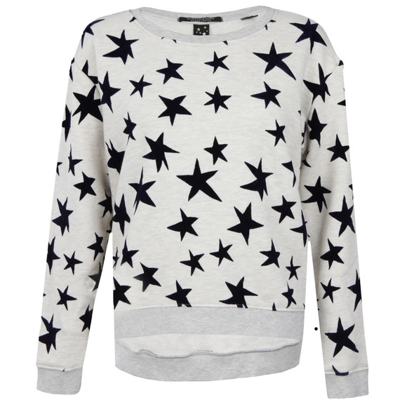Maison Scotch Womens Off-white Star Print Crew Neck Sweat main image