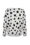 Maison Scotch Womens Off-white Star Print Crew Neck Sweat