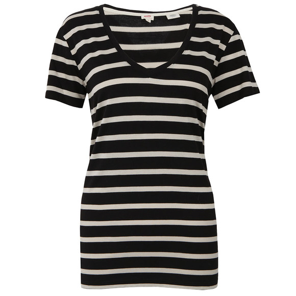Levi's Womens Black Perfect V Neck T Shirt main image