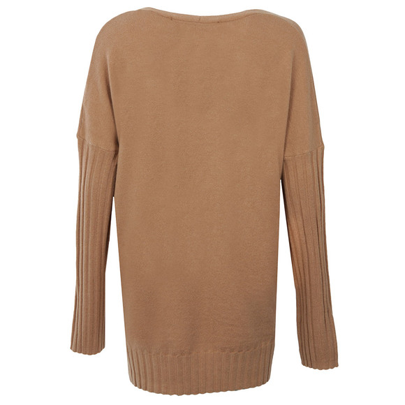 French Connection Womens Brown Viva Vhari V Neck Jumper main image
