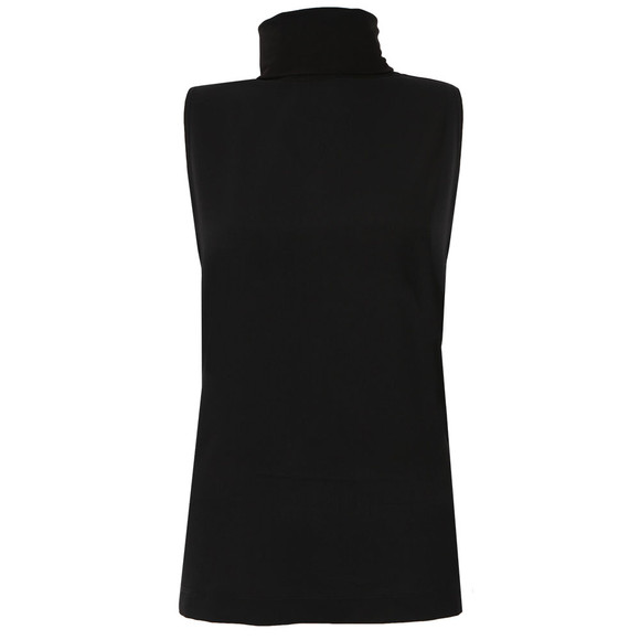 French Connection Womens Black Polly Plains Sleeveless High Neck Top main image