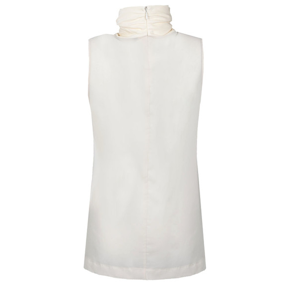 French Connection Womens Off-white Polly Plains Sleeveless High Neck Top main image