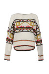 Maison Scotch Womens Off-white Vintage Crew Neck Knit