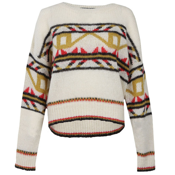 Maison Scotch Womens Off-white Vintage Crew Neck Knit main image