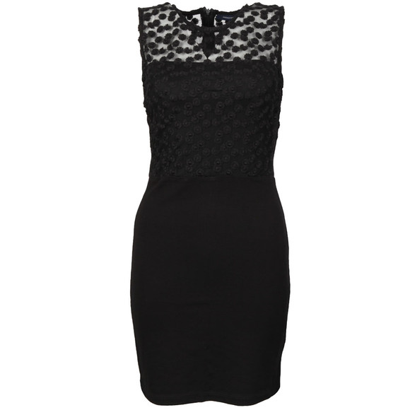 French Connection Womens Black Chelsea Beau Sleeveless Fitted Dress main image