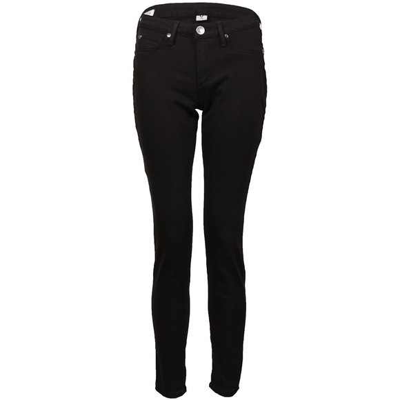 True Religion Womens Black Jennie Curvy Mid Rise Skinny Jean main image