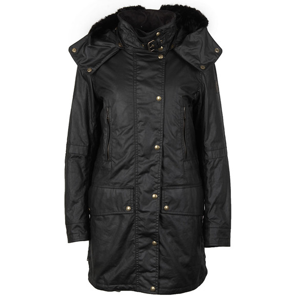 Belstaff Womens Black CT Master Parka With Liner & Fur main image