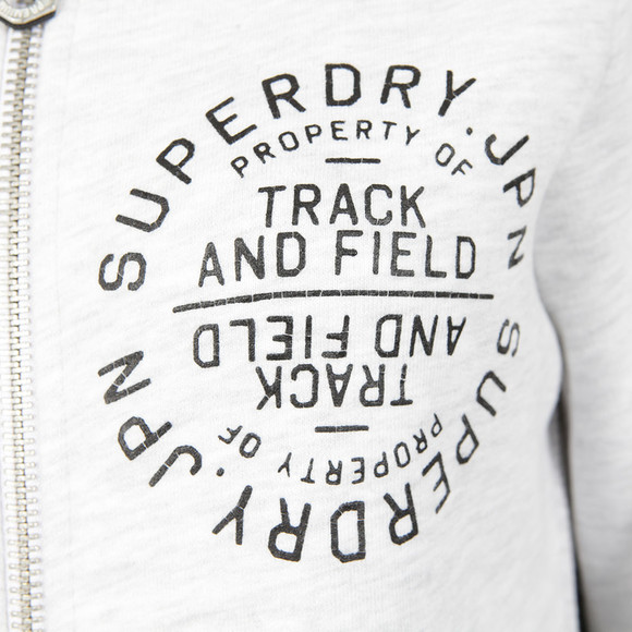 Superdry Womens Grey Track & Field Zip Hoody main image