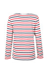 Maison Scotch Womens White Striped T Shirt