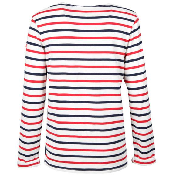 Maison Scotch Womens White Striped T Shirt main image