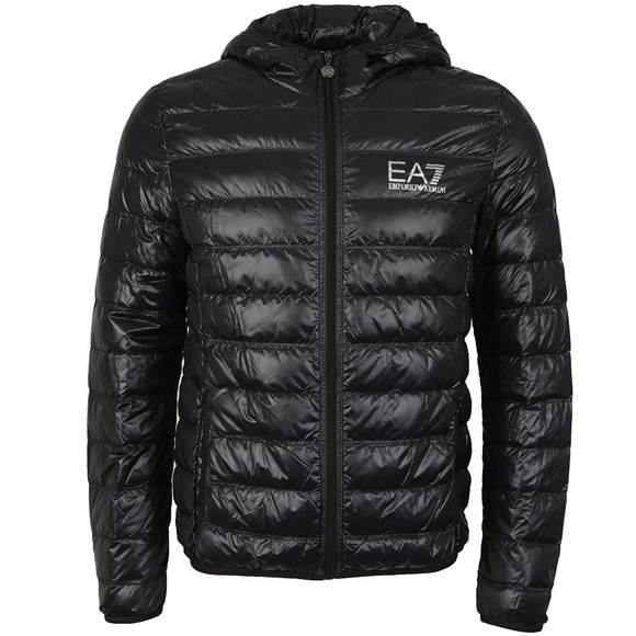 EA7 Emporio Armani Mens Black Train Core ID Light Down Jacket main image