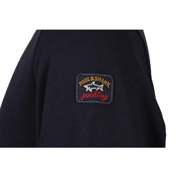 Paul & Shark Mens Blue Fleece Crew Neck Sweatshirt main image