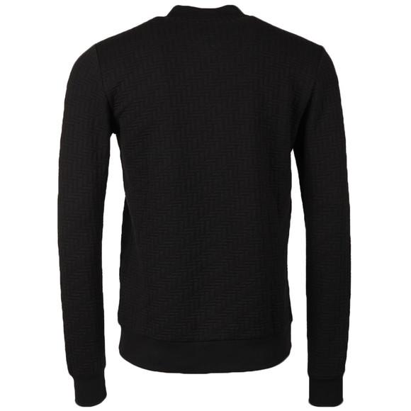 J.Lindeberg Mens Black Randall Quilt Jersey Sweat main image