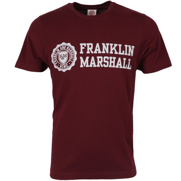Franklin & Marshall Mens Red Logo Crew T Shirt main image
