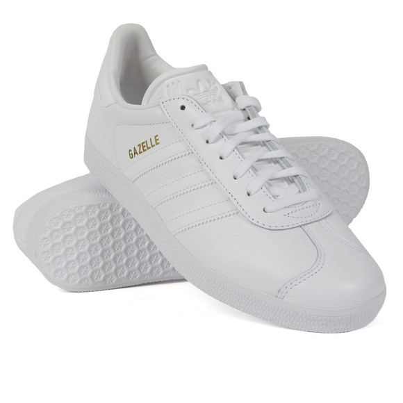 Adidas Originals Womens White Leather Gazelle main image