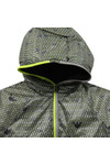 Armani Junior  Boys Grey Allover Pattern Reversible Jacket