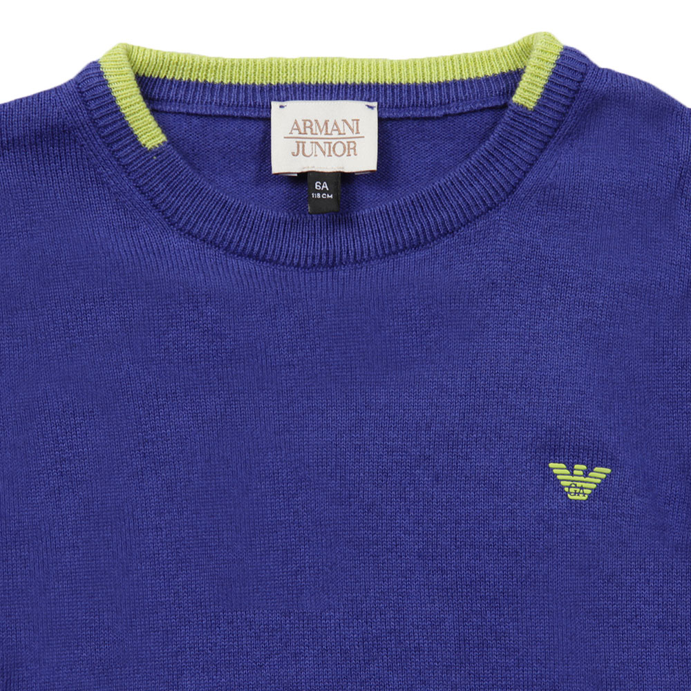 Small Logo Knitted Crew Jumper main image