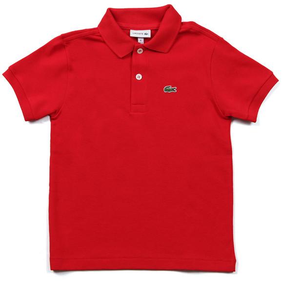Lacoste Boys Red Lacoste L1812 Plain Polo main image