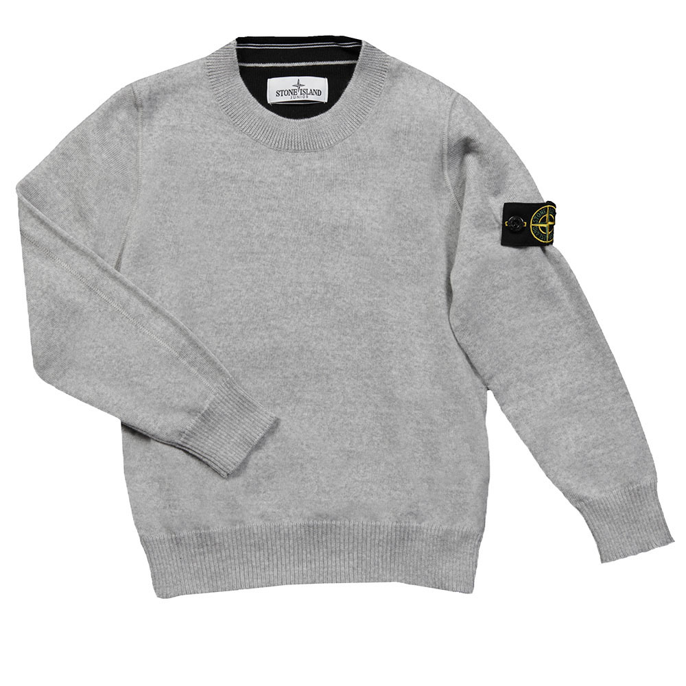 Stone Island Junior Knitted Crew Neck Jumper - Oxygen Clothing
