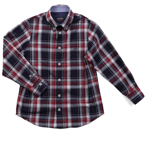 Paul & Shark Cadets Boys Red Check Shirt main image