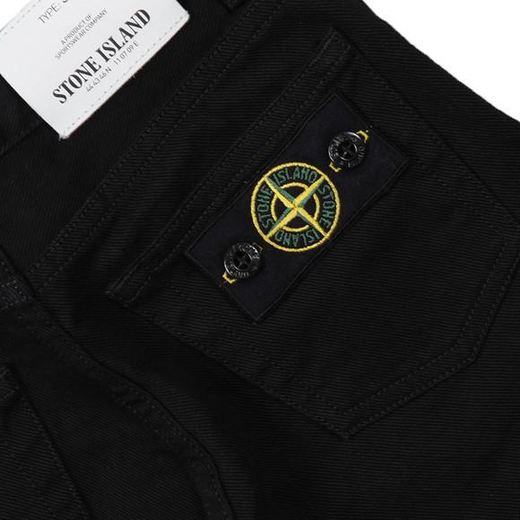 Stone Island Junior  Boys Black Button Badge Jean main image