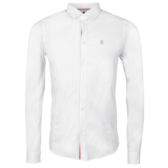 Luke Mens White Butchers Pencil Shirt main image