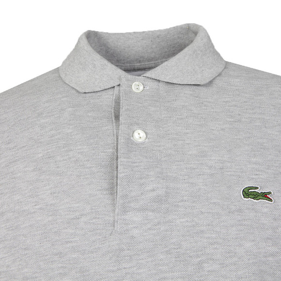 Lacoste Mens Grey L1313 Argent Chine Long Sleeve Polo main image