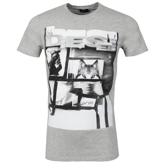Diesel Mens Grey Diego HF T Shirt main image