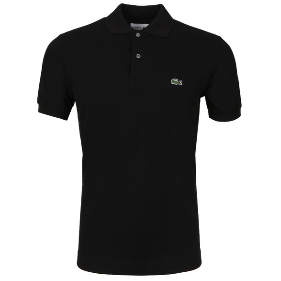 Lacoste Mens Black L1212 Plain Polo Shirt main image