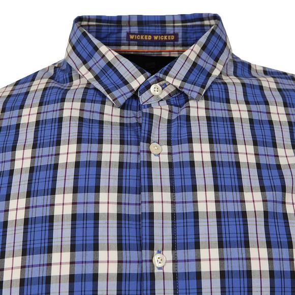 Scotch & Soda Mens Blue Shirt In Crispy Poplin main image